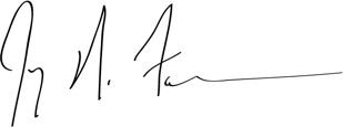 Jay Farner's signature